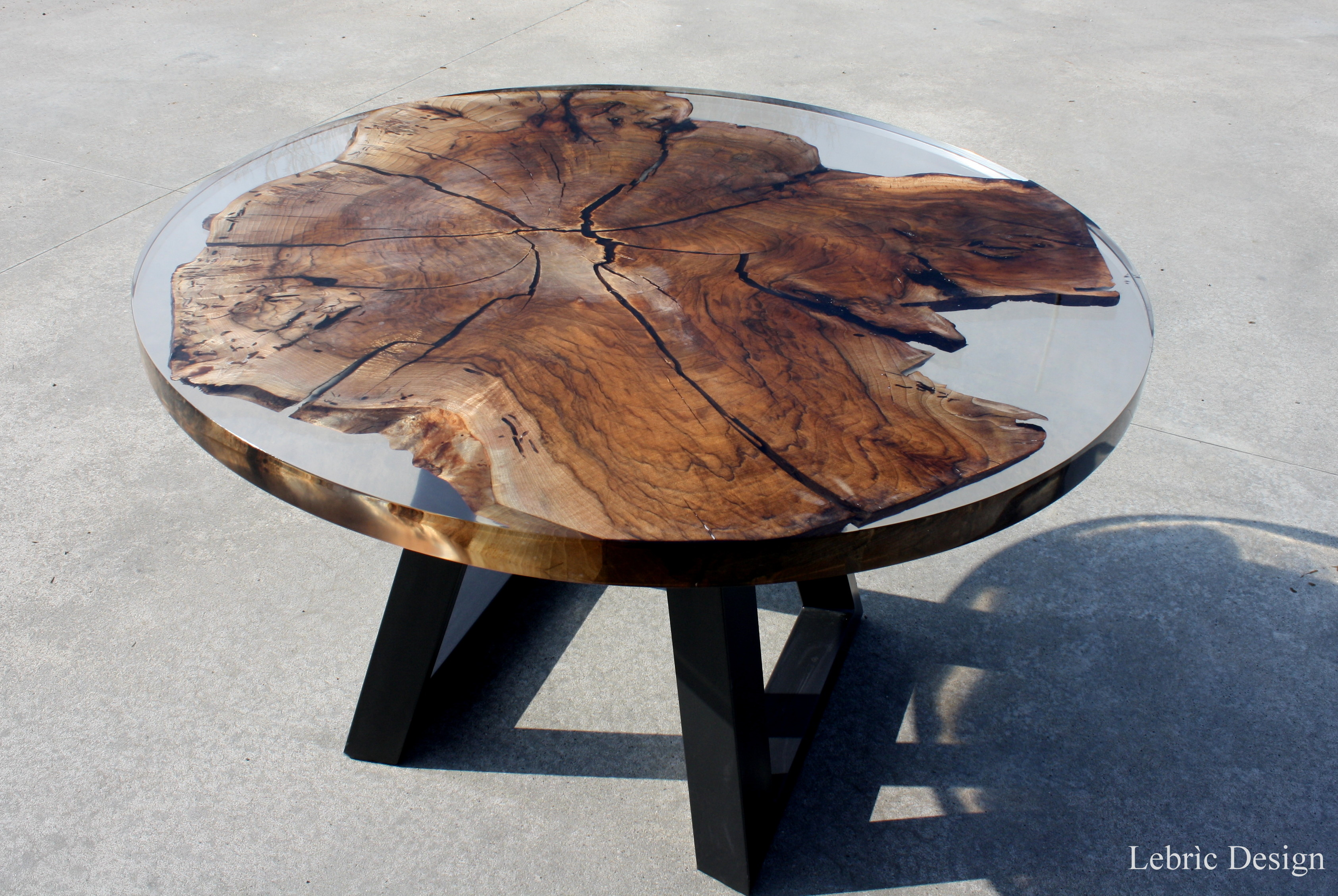 Tavoli di design in legno e resina Luna < Tavoli in legno e resina ...