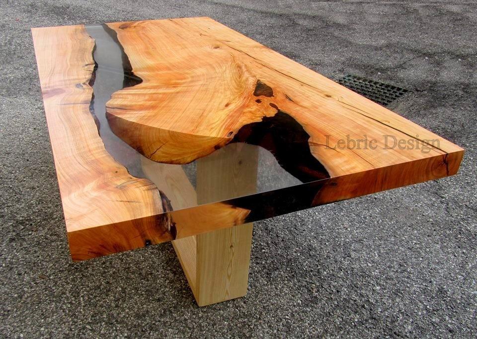 Tavolo in legno e vetro Danubio < Tavoli in resina Lebrìc Design ...